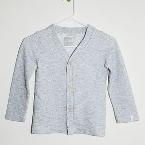 Zara Waffle Weave Button Sweater Cardigan 6/7